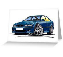 BMW M5 (E39) Blue Greeting Card