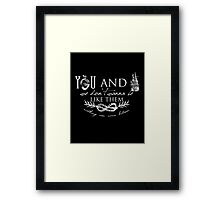 You and I - Typography Framed Print