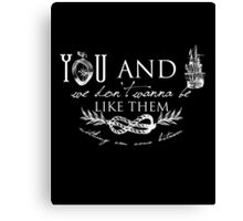 You and I - Typography Canvas Print