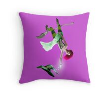 Clumsy Witch 02 Throw Pillow