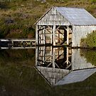 Boatshed Reflection by gmws