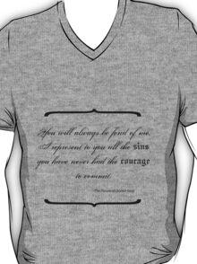 Dorian Gray - Sins Quote T-Shirt