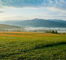 Mountain Painting, Cades Cove, Smoky Mountain National Park by Mike Koenig