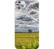 Clouds over farmland iPhone Case/Skin