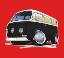 VW Bay Window Camper Van Black Kids Clothes