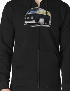 VW Bay Window Camper Van Black T-Shirt