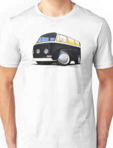 VW Bay Window Camper Van Black Unisex T-Shirt