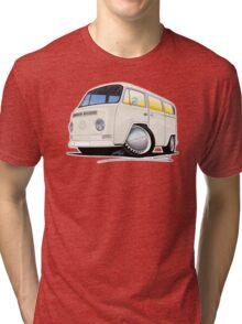 VW Bay Window Camper Van White Tri-blend T-Shirt