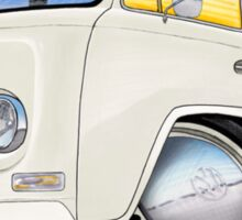 VW Bay Window Camper Van White Sticker
