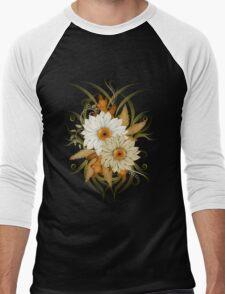 Autumn Flowers Men's Baseball ¾ T-Shirt