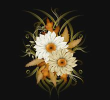 Autumn Flowers Womens Fitted T-Shirt