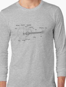 Guitar Anatomy Long Sleeve T-Shirt
