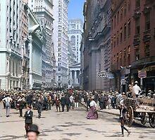 Curb Market in NYC, ca 1900 by Sanna Dullaway