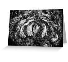 Shapes in wood. Greeting Card