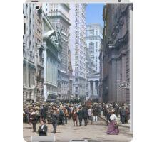 Curb Market in NYC, ca 1900 iPad Case/Skin