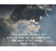 """Psalm 19:1""  by Carter L. Shepard Photographic Print"