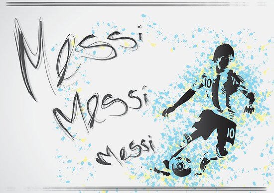 Lionel Messi Poster by Sean Biggs