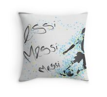 Lionel Messi Poster Throw Pillow