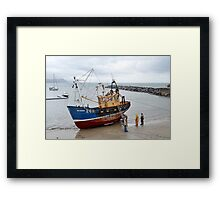 Stranger On The Shore --Lyme, Dorset. Uk Framed Print