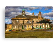 Town Hall and Glebe Park Bandstand Canvas Print