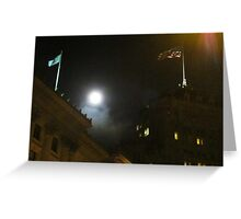 Moon Over Fairmont Greeting Card