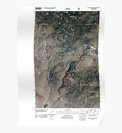 USGS Topo Map Washington State WA Burge Mountain 20110429 TM Poster