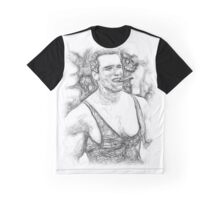Arnold Schwarzenegger - Pencil Art Graphic T-Shirt