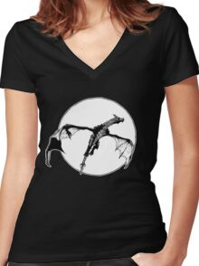 There Be Dragons Women's Fitted V-Neck T-Shirt