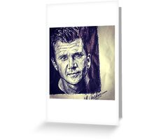 Mel Gibson Greeting Card