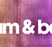 Drum & Bass (color harmonies)  Sticker