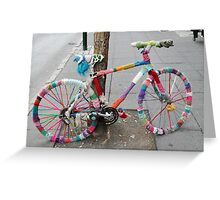 knitted bicycle Greeting Card