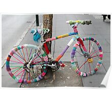 knitted bicycle Poster