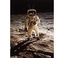 TV Astronaut moon walk Photographic Print