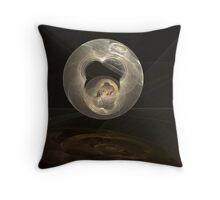Fractal Art - Reflected Spheres Throw Pillow
