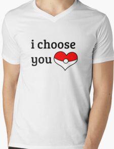 I Choose You Mens V-Neck T-Shirt