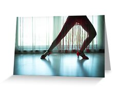 Woman legs in dancing pose Greeting Card