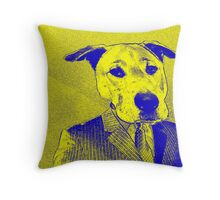 Dressed for Success-Yellow & Blue Throw Pillow
