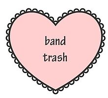 band trash (pink) | sticker by GxngerObsession