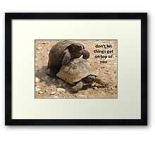 Don't Let things Get On Top of You  Framed Print