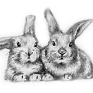 two little bunnys drawing by deedeedee123
