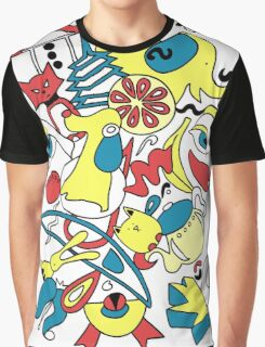 Blue Yellow Red Abstract 14 Graphic T-Shirt