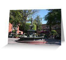Queretaro Mexico Plaza Greeting Card