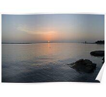 Sunrise on Lake Lewisville Poster