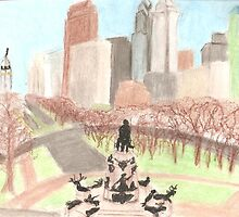 Philly from the Art Museum by elizabethtarde