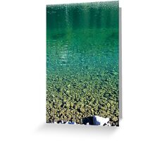 glacial water Greeting Card