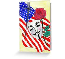 V  the Vendetta against America Greeting Card