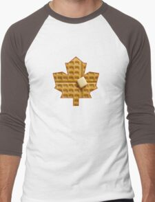 Toronto Maple Leafs - Waffles Men's Baseball ¾ T-Shirt