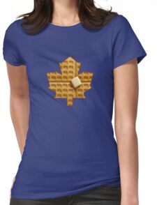 Toronto Maple Leafs - Waffles Womens Fitted T-Shirt