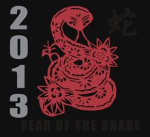 2013 Chinese New Year of The Snake T-Shirt One Piece - Short Sleeve