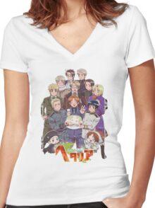 Hetalia Tee Women's Fitted V-Neck T-Shirt
